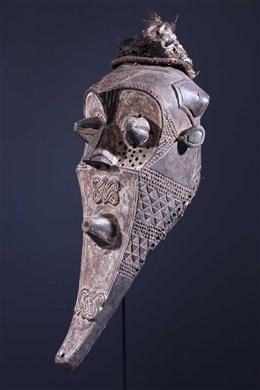 Masque tribal funéraire Inhuba Kabongo Kuba