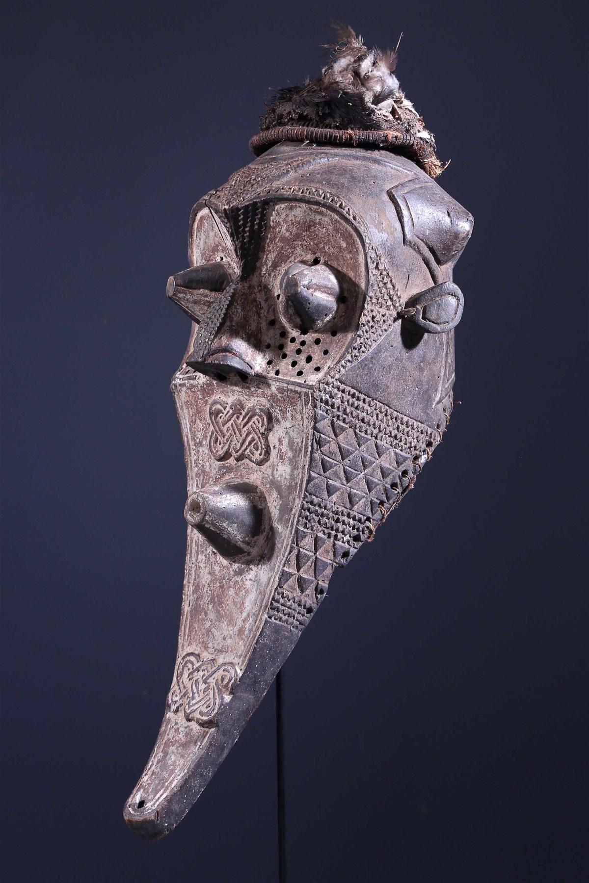 Masque funéraire Inhuba Kabongo Kuba - Art tribal