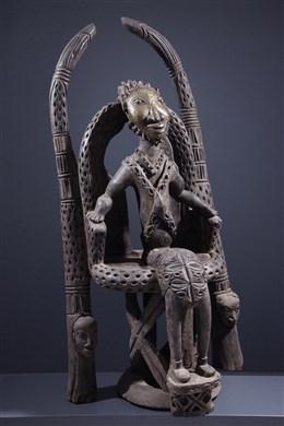 Art tribal - Dignitaire Bamoun sur son trône