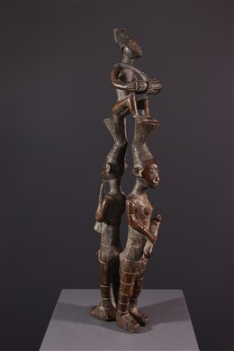 Art tribal - Trio de musiciens Mangbetu