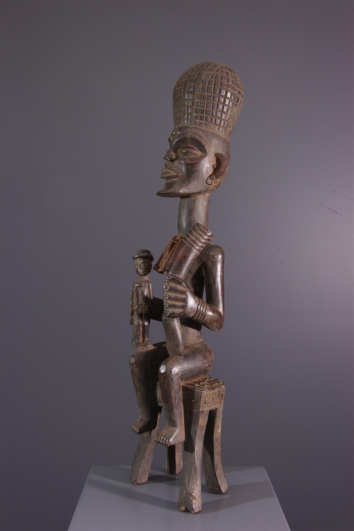 Statue Chokwe - Art tribal
