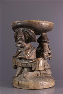 Art tribal - Tabouret de prestige Tchokwe