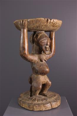 Art tribal - Tabouret Songye Luhuna