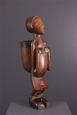 Pot à tabac anthropomorphe Nana Yakoma Ovimbundu