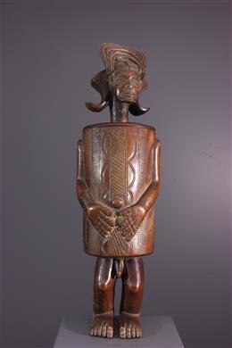 Boîte anthropomorphe Chokwe