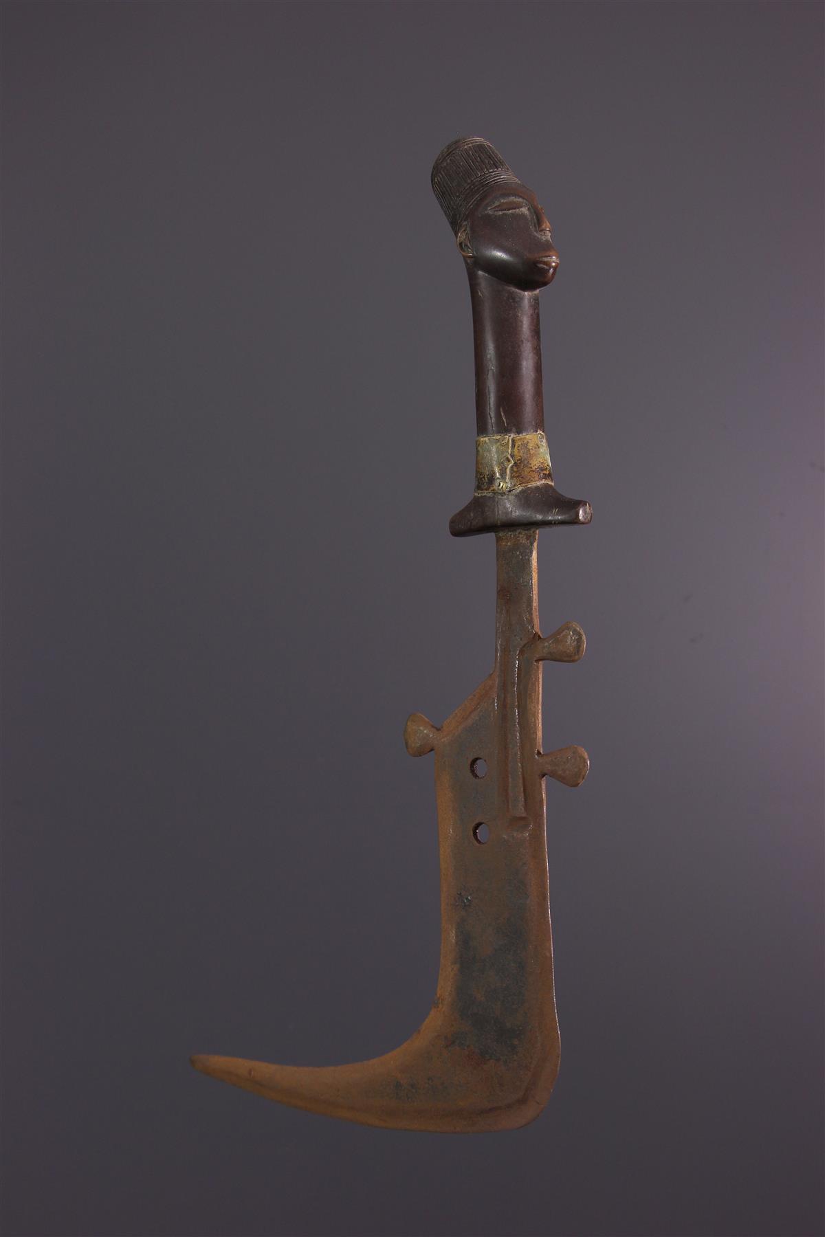 Couteau Mangbetu - Art tribal