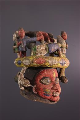 Masque heaume Gelede Yoruba