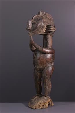 Art tribal - Statue Baga à tête de Nimba