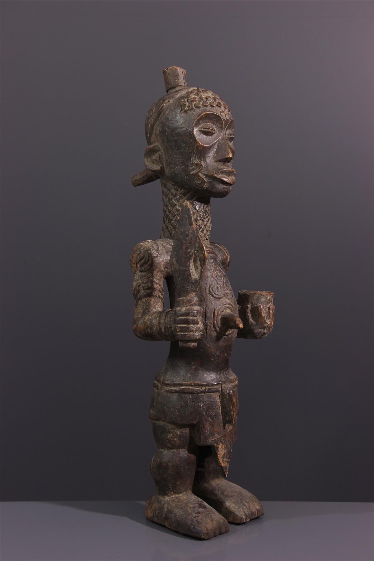 Statue Luluwa - Art tribal