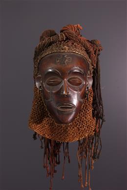 Masque casque Chokwe Mukishi wa Pwo
