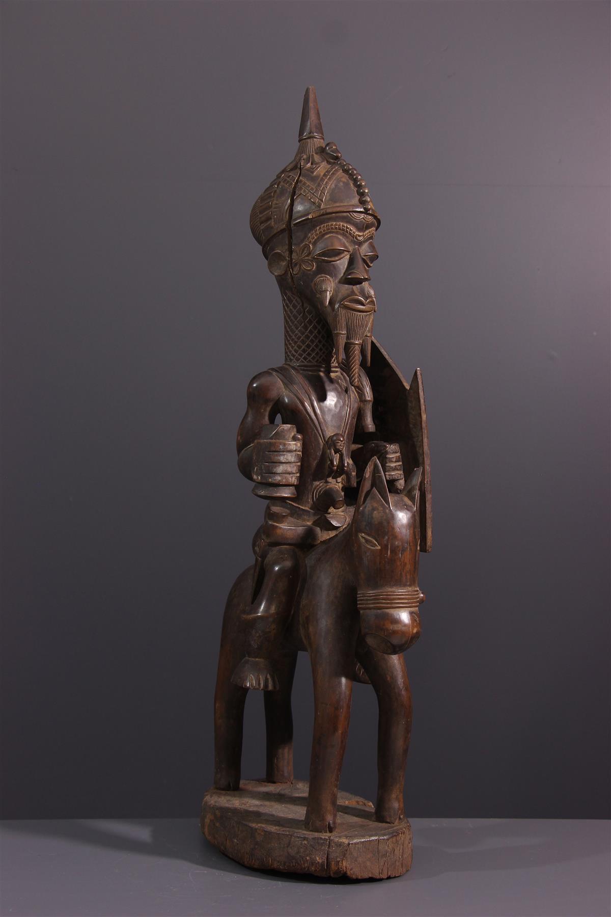 Cavalier Lulua - Art tribal