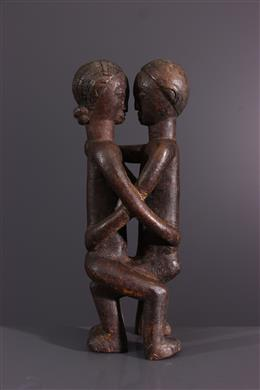 Art tribal - Figure de couple Kanyok
