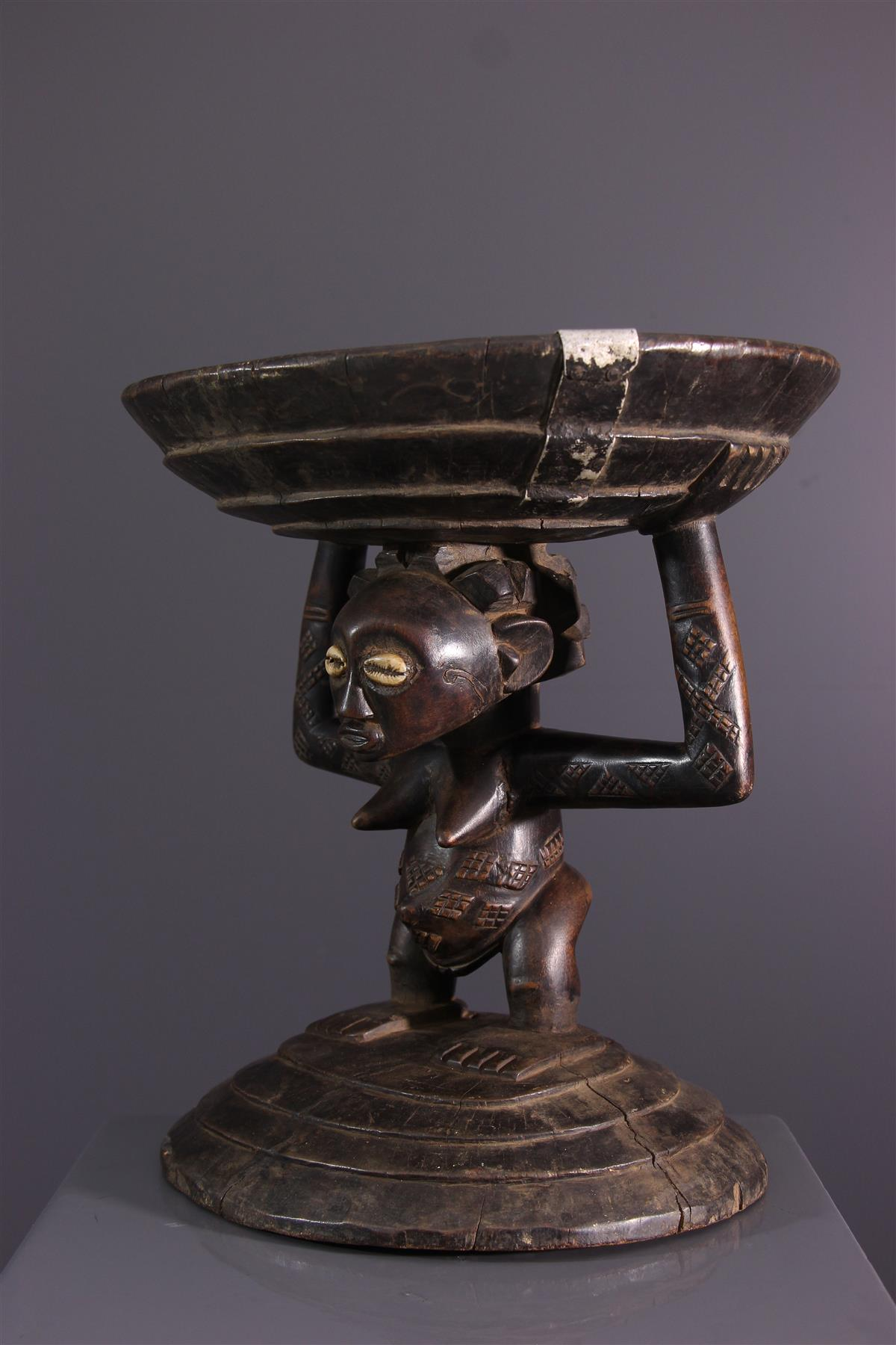 Tabouret Lupona - Art tribal