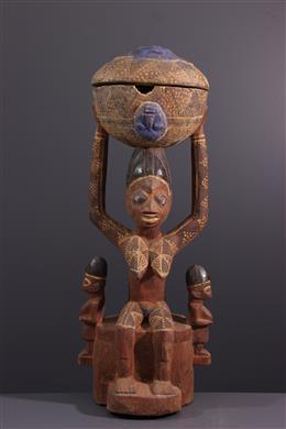 Coupe à caryatide Yoruba Arugba
