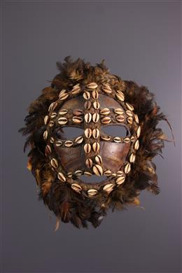 Art tribal - Masque Nkulu Lega en carapace de tortue