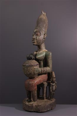 Art tribal - Porteuse de coupe Olumeye Yoruba