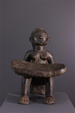 Art tribal - Tabouret caryatide Tabwa