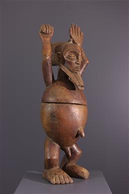 Art tribal - Boîte anthropomorphe Hemba
