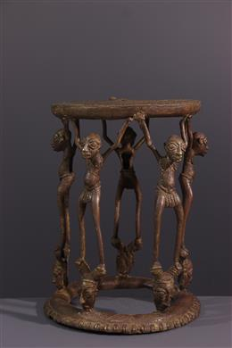 Art tribal - Siège de prestige Tikar en bronze