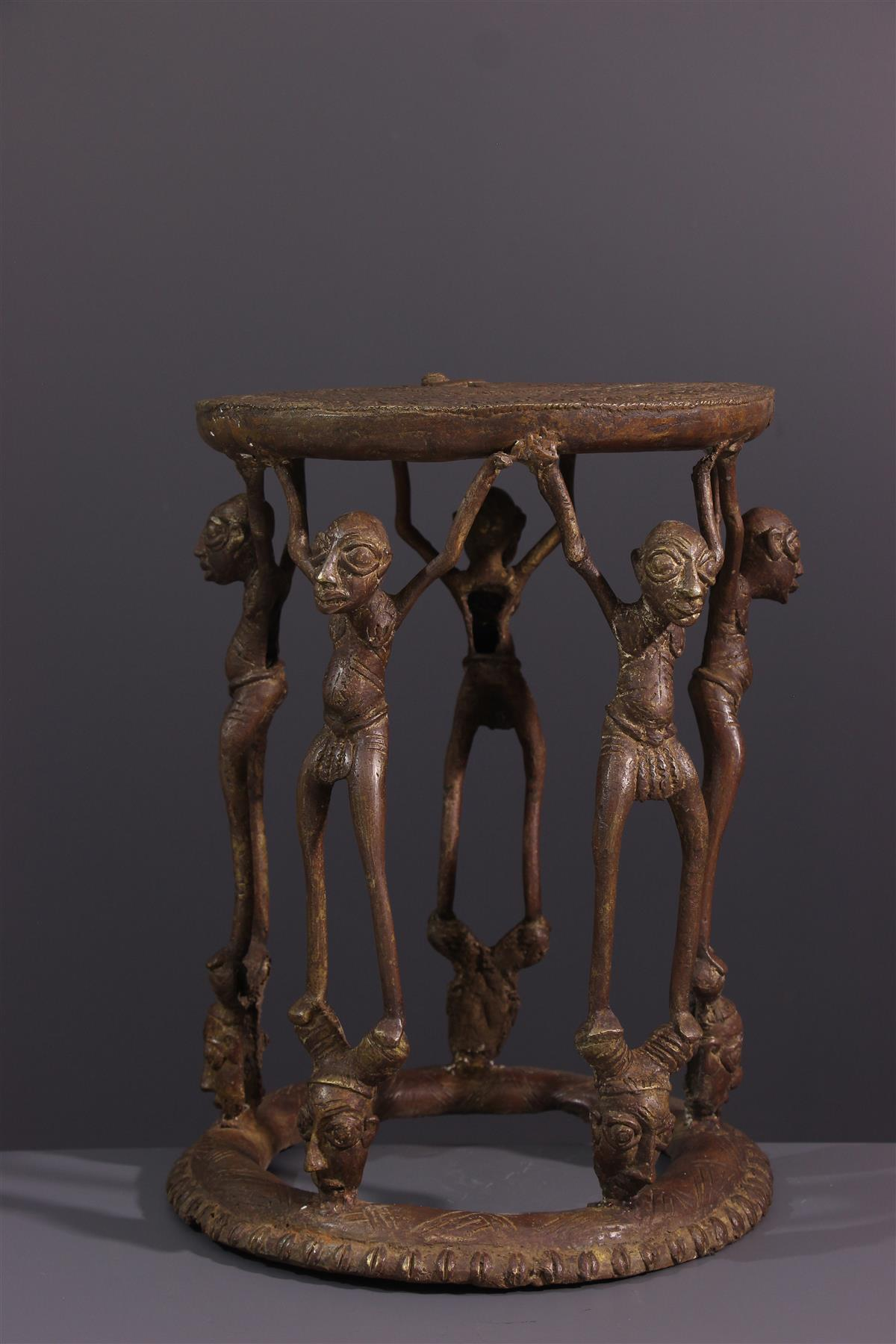 Tabouret Tikar - Art tribal