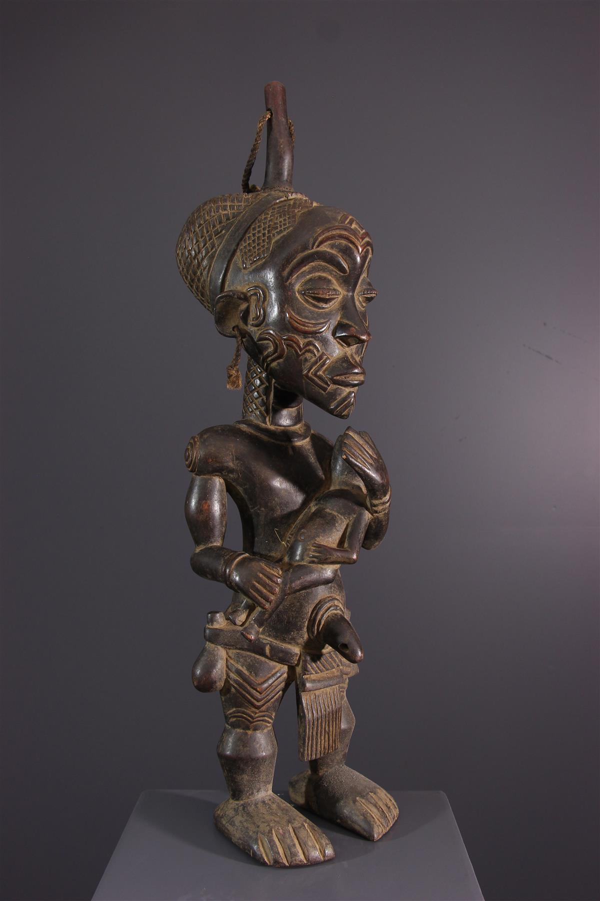 Statue Lualua - Art tribal