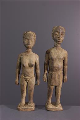 Couple de statuettes Ewe Venovi
