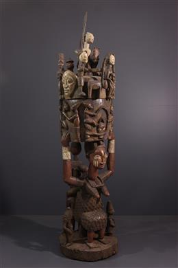 Art tribal - Coupe monumentale Yoruba