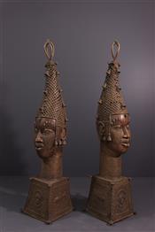 bronze africainTêtes Bénin