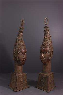 Têtes Bénin - Art tribal