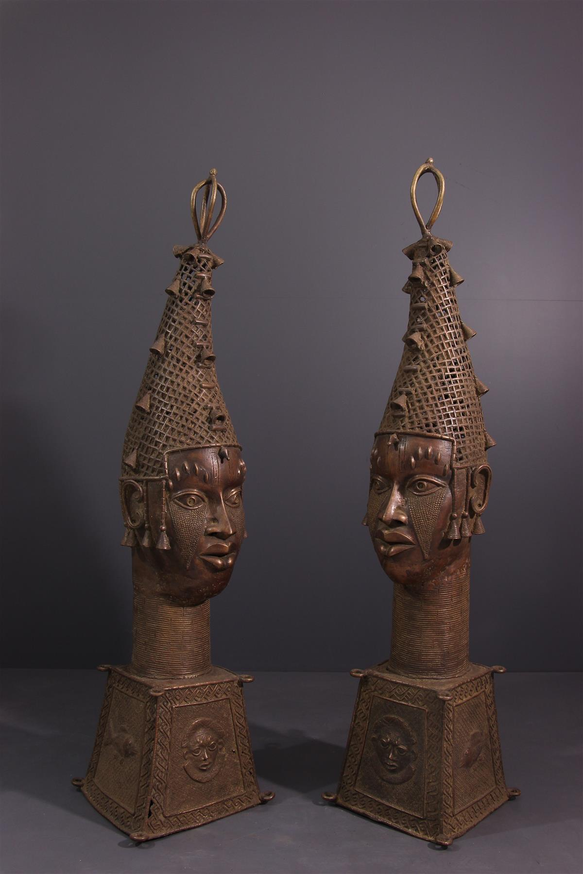 Têtes Bénin - Art tribal