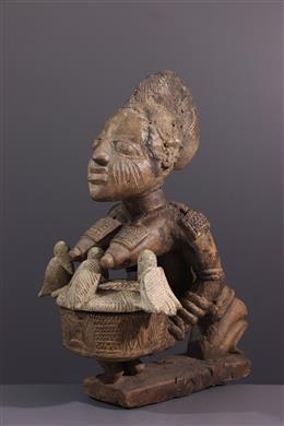 Art tribal - Grande porteuse de coupe Olumèye Yoruba