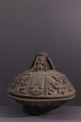 Art tribal - Coupe rituelle Igbadù Ifa Yoruba