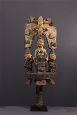 Sculpture d autel Yoruba Osé sango
