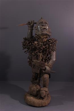 Art tribal - Grande statue Kongo Nkondo Nkisi