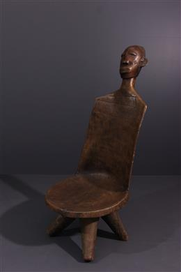 Art tribal - Chaise de prestige Mangbetu