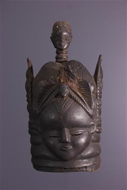 Masque heaume Mende Bundu/Sowei