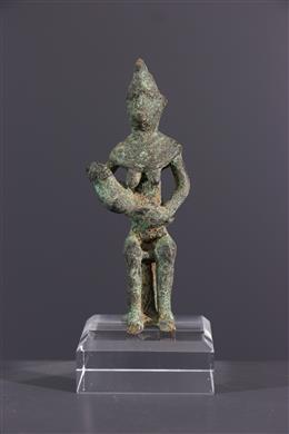 Figurine de maternité en bronze Gan