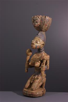 Art tribal - Porteuse de coupe Yoruba