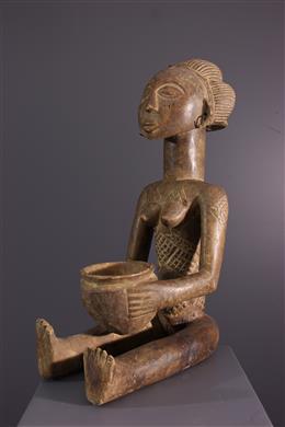 Art tribal - Porteuse de coupe Luba/ Shankadi