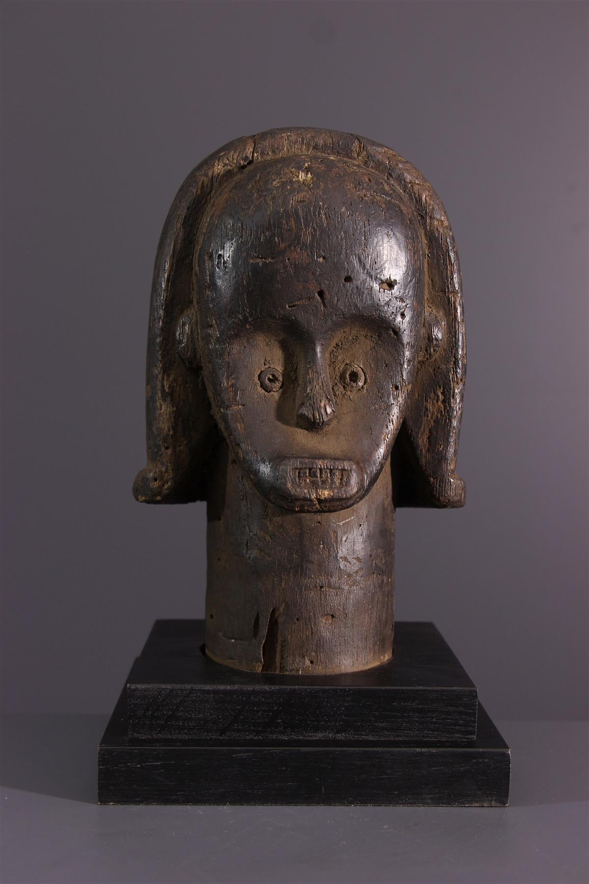 Tête Fang - Art tribal