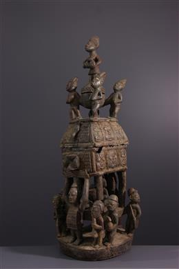 Art tribal - Coupe monumentale Yoruba à offrandes
