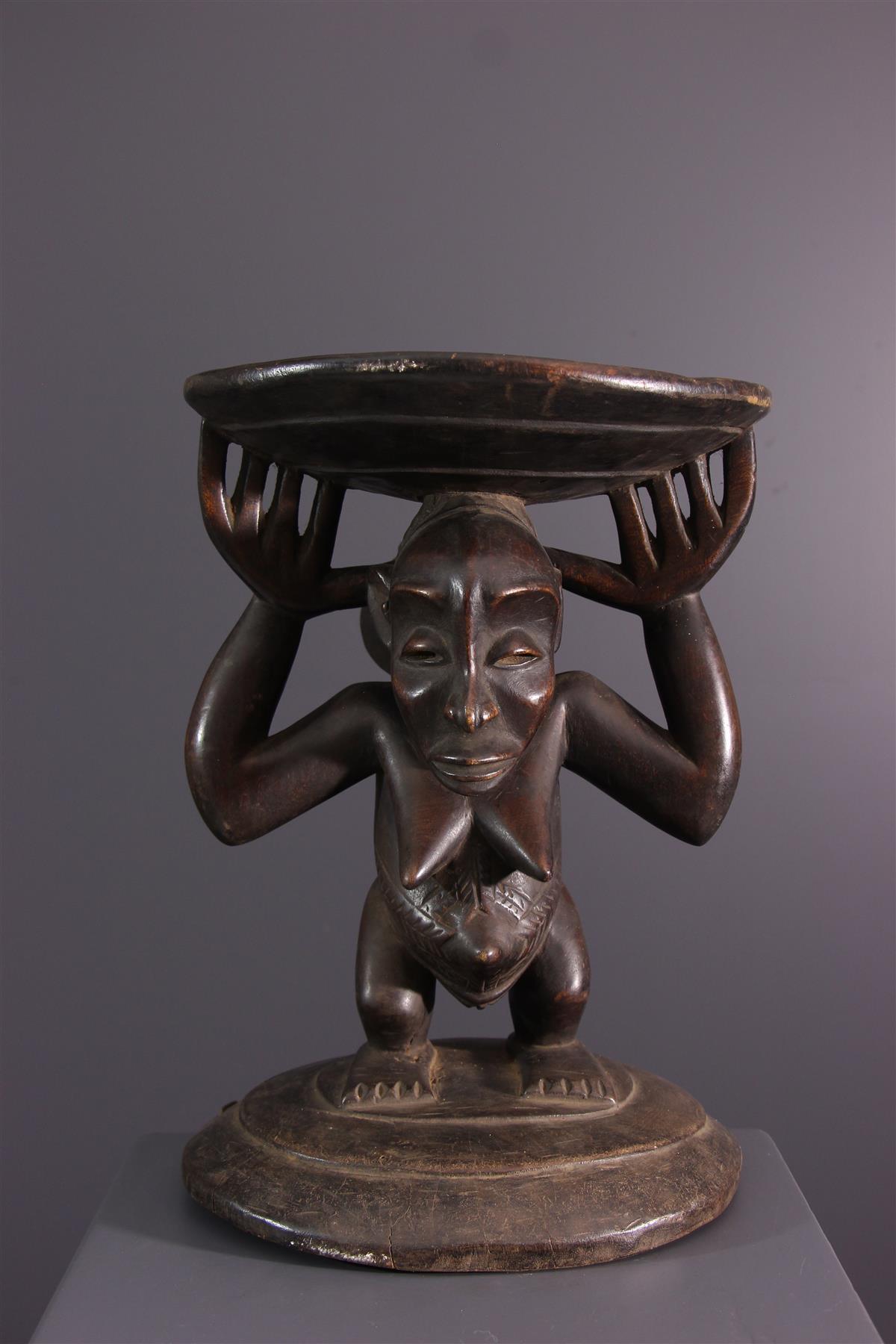 Tabouret Hemba - Art tribal