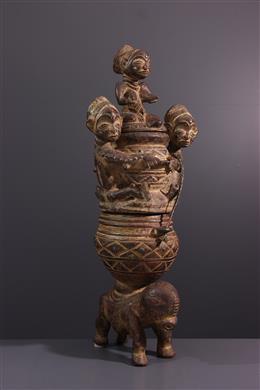 Art tribal - Double coupe figurative Luba Kiteya