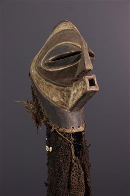 Masque Songye Kifwebe Ndoshi et costume